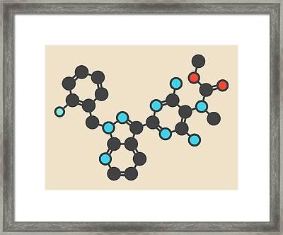 Riociguat Hypertension Drug Molecule Framed Print