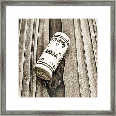 Rioja Wine Cork Framed Print