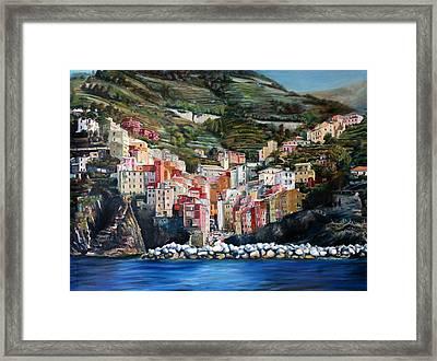 Riomaggiore Glory- Cinque Terre Framed Print by Jennifer Lycke