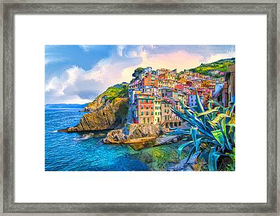 Riomaggiore Morning - Cinque Terre Framed Print by Dominic Piperata