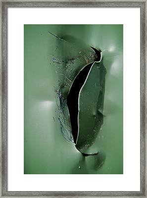 Rip Framed Print by Odd Jeppesen