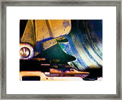 Rip Saw B Framed Print by Laurie Tsemak