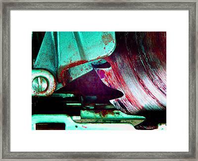Rip Saw C Framed Print by Laurie Tsemak