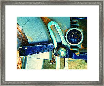 Rip Saw D Framed Print by Laurie Tsemak