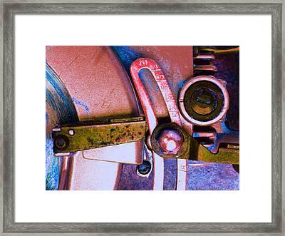 Rip Saw E Framed Print by Laurie Tsemak