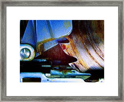 Rip Saw Framed Print by Laurie Tsemak