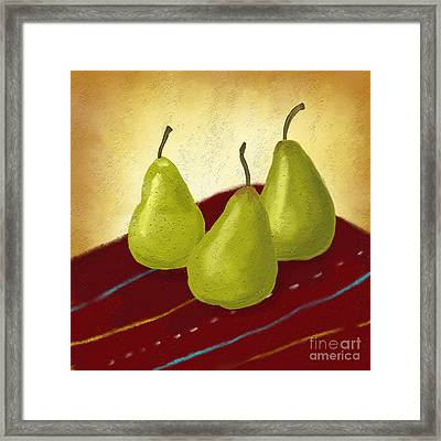 Ripe And Ready Painting Framed Print by Linda Lees