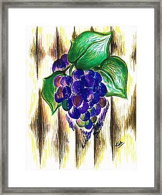 Ripened Grapes Framed Print