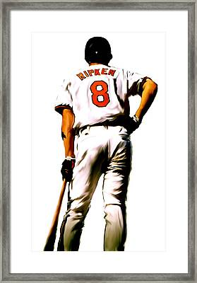 Ripken II   Cal Ripken Jr Framed Print by Iconic Images Art Gallery David Pucciarelli