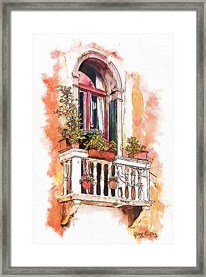 Framed Print featuring the painting Riposo by Greg Collins