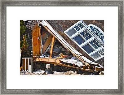 Ripped Apart Framed Print by LMC Photography Lisa Cifaretto