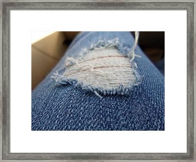 Ripped Jeans Framed Print by Jenna Mengersen