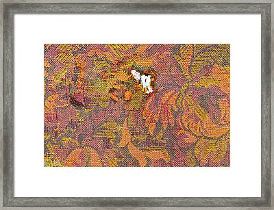Ripped Upholstery Framed Print by Tom Gowanlock