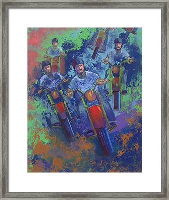 Rippin It Up Framed Print by Peter Bonk