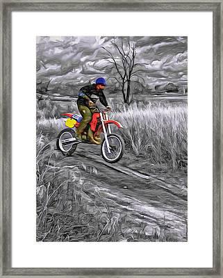 Rippin' - Paint Framed Print by Steve Harrington