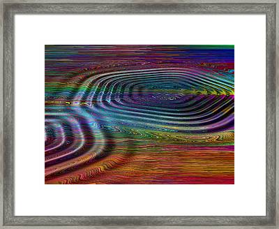 Ripple Fx 3 Framed Print by Wendy J St Christopher