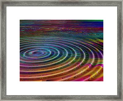 Ripple Fx 4 Framed Print by Wendy J St Christopher