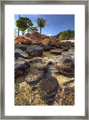 Ripple Framed Print by Mario Legaspi