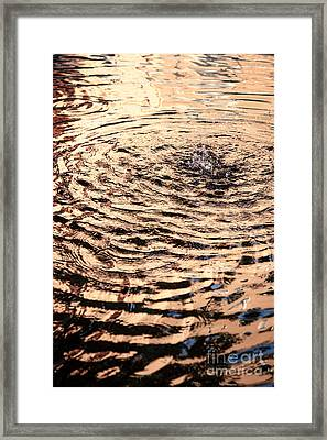 Ripple Reflection In Fountain Water Framed Print