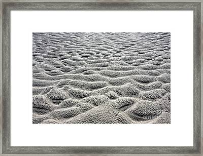Rippled Beach Pattern Framed Print by Jan Brons