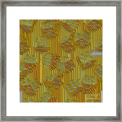 Rippled Dice Abstract Framed Print