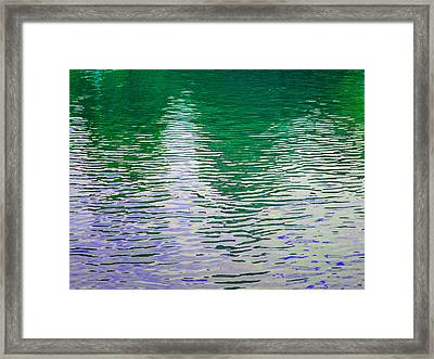Rippled Reflections Framed Print by Muriel Levison Goodwin
