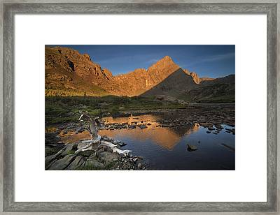 Rippled Reflections Of Crestone Needle Framed Print