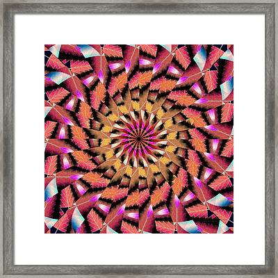 Rippled Source Kaleidoscope Framed Print