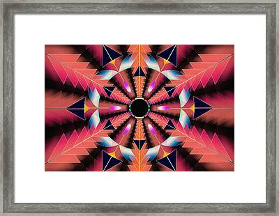 Framed Print featuring the drawing Rippled Source Of Light by Derek Gedney