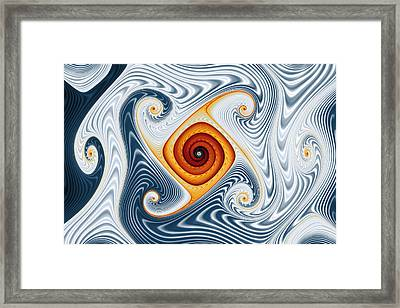 Ripples And Gnarls Framed Print by Mark Eggleston