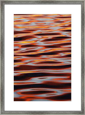 Ripples At Sunset Framed Print