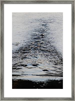Framed Print featuring the photograph Ripples In A V by Ramona Whiteaker