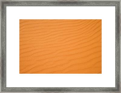 Ripples In Sand Dunes, Strzelecki Framed Print by David Wall