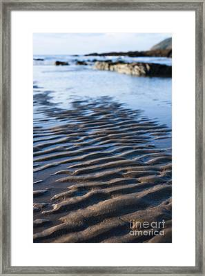 Ripples In The Sand Framed Print by Anne Gilbert
