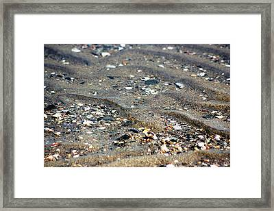 Framed Print featuring the photograph Ripples In The Sand by Judy Palkimas