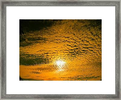 Ripples In The Sky Framed Print