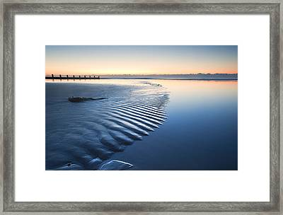 Ripples Framed Print by Matthew Gibson