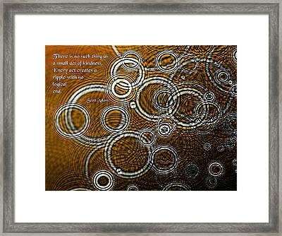 Ripples Framed Print by Mike Flynn