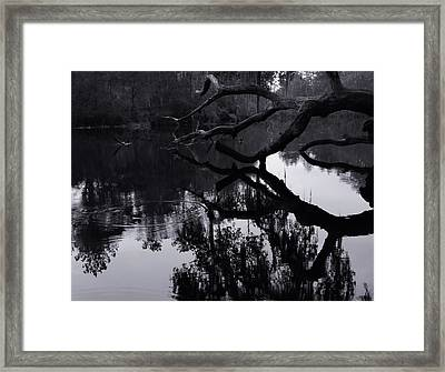Ripples Of Black And White Framed Print by Warren Thompson