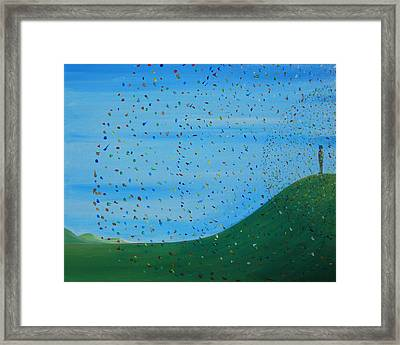 Ripples Of Life 2 Framed Print by Tim Mullaney