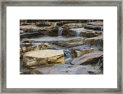 Ripples Of Water Framed Print by Michael Waters