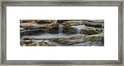 Ripples Of Water Panoramic Framed Print by Michael Waters
