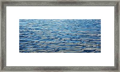 Ripples On A Scottish Loch Framed Print by Tim Gainey