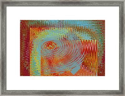 Rippling Colors No 1 Framed Print