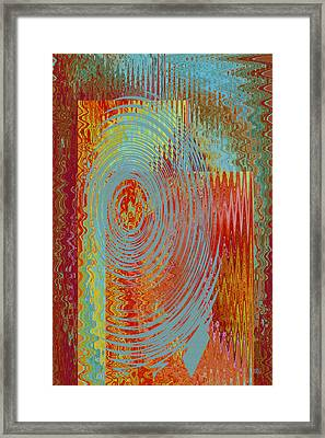 Rippling Colors No 3 Framed Print