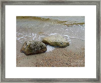 Rippling Seaside Tide Framed Print