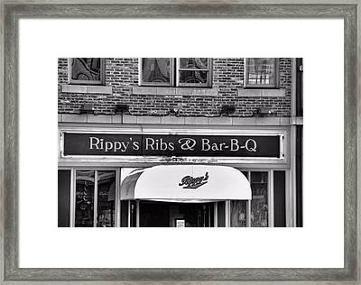 Rippy's Ribs And Bar Bq Framed Print