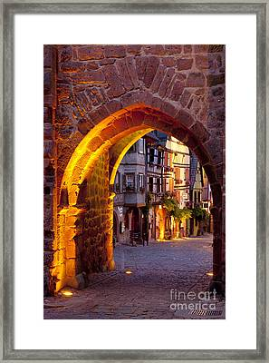 Riquewihr Gate Framed Print