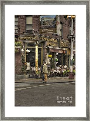 Risatorante Italiano Framed Print by David Bearden