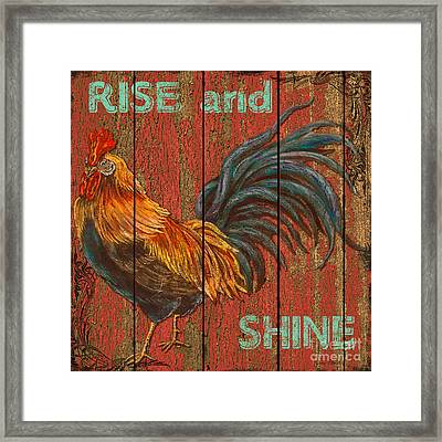 Rise And Shine Framed Print by Jean PLout